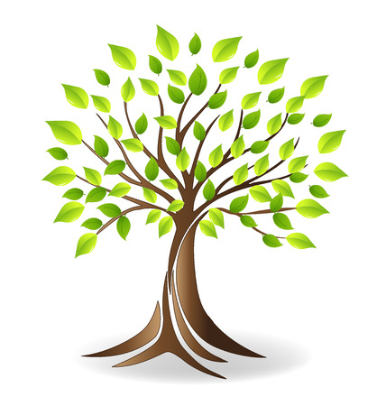 Ecology tree  vector Stock Illustratie