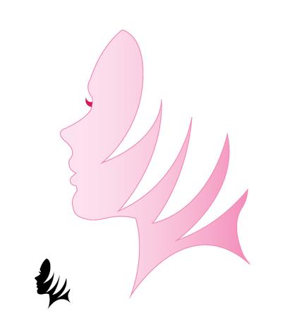 woman profile: Profile woman silhouette