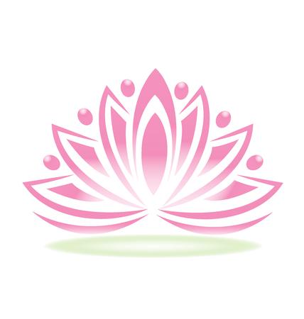 Flor de loto personas Ilustración de vector