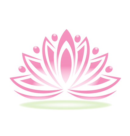 Kwiat ludzi lotosu Ilustracje wektorowe