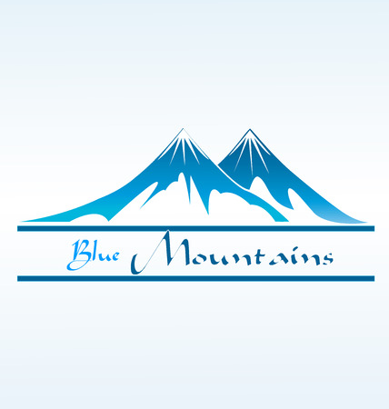 Blue Mountains business card Vettoriali