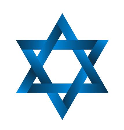 Star blue ribbon image vector design Vettoriali
