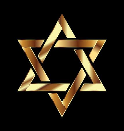 Gold star symbol  vector