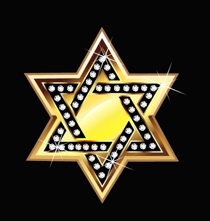 bling bling: Gold star bling bling symbol  vector