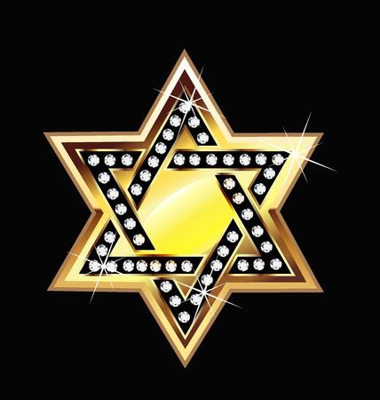 Gold star bling bling symbol  vector