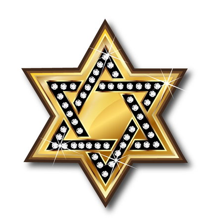 Gold star symbol  vector