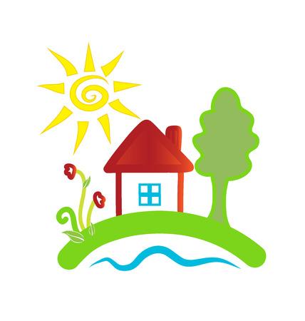 House cartoon graphic icon design Vettoriali