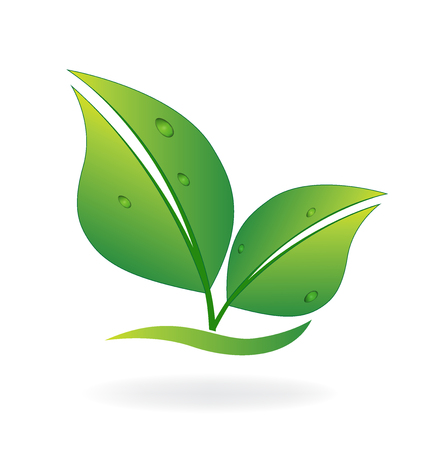 energy healing: Health nature green leafs symbol vector image