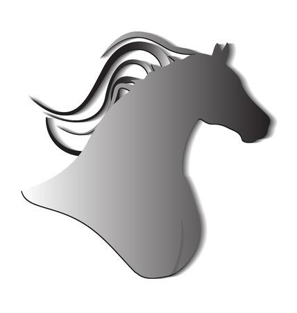 Wild horse identity card logo  イラスト・ベクター素材