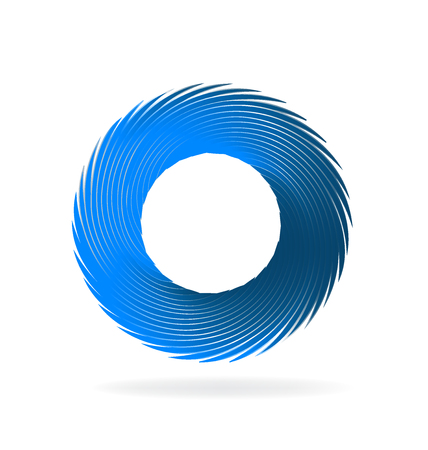 Swirly blue wave vector image icon