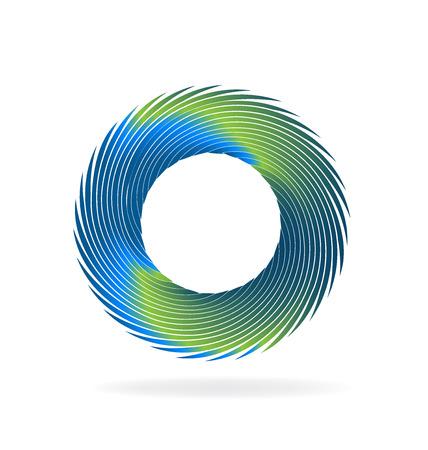 Swirly wave vector image icon