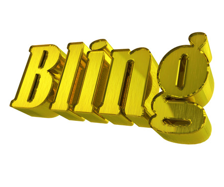 14k: Bling word 3D gold graphic image