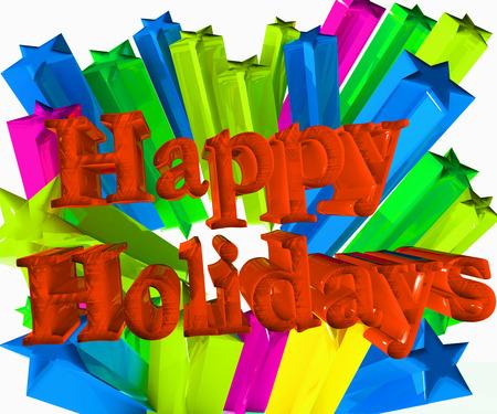 Happy holidays 3D festive image