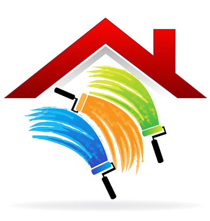 image vectorielle de carte de visite de peinture Maison