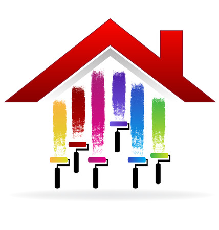 investment concept: Painting a house vector image