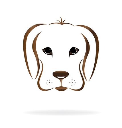 labrador: Dog face labrador Illustration