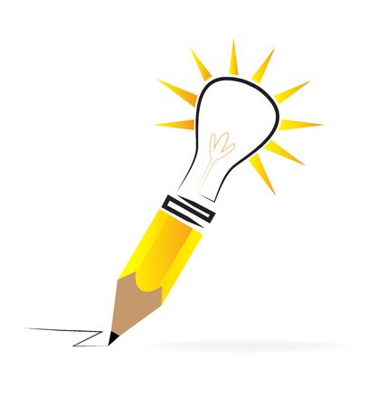 answer: Concept of creative idea. Pen and light
