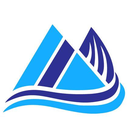 rocky road: Vector of Blue Mountains icon logo