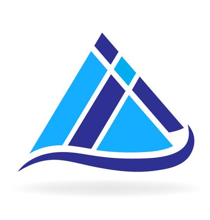 wilderness area: Vector of Blue Mountains icon logo