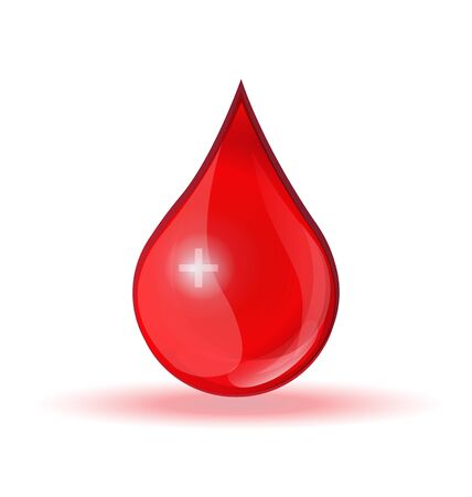 Blood drop with cross donation symbol icon logo