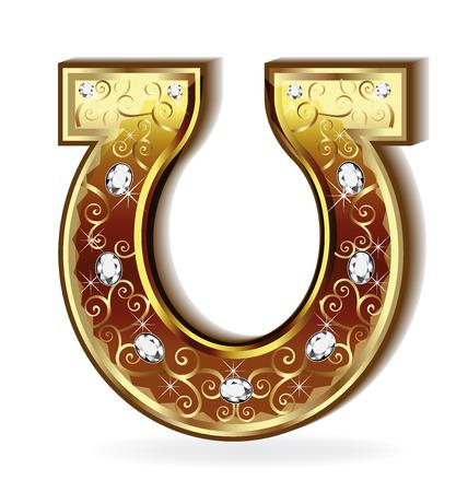 joyas de oro: vector de la herradura de oro Vectores