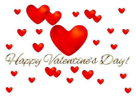 shiny background: Valentines Day card vector image