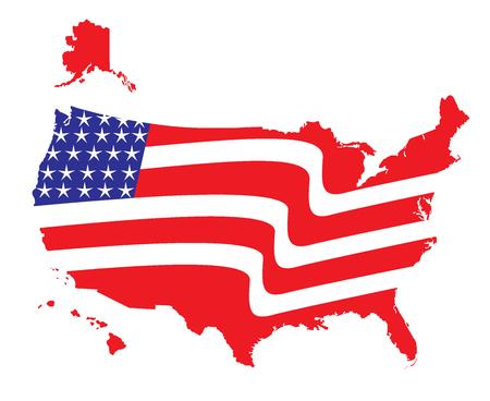 Mapa vlajky Spojených států amerických
