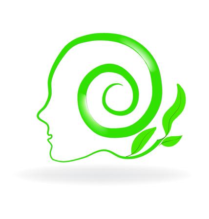 Healthy natural brain logo vector image