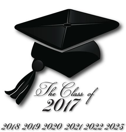 clases: Sombrero de graduación para la clase de 2017,2018,2019,2019,2020, icono plantilla de logotipo vectorial