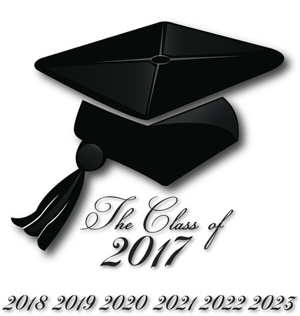 Graduation hat for the class of 2017,2018,2019,2019,2020, icon vector logo template