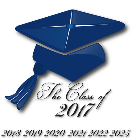 Graduation hat for the class of 2017,2018,2019,2020,2021,2022  school education card design image art logo icon vector template Vettoriali