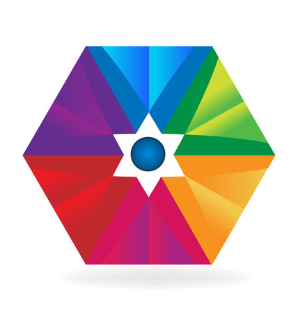 rainbow abstract: Abstract colorful geometric vector image