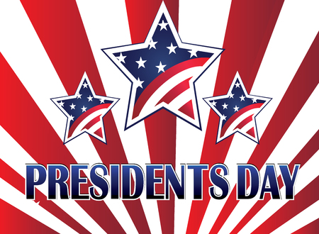 Presidents day stars USA flag background Illustration