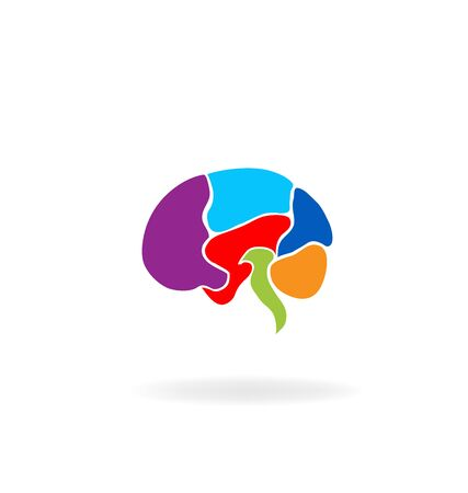 Brain mental symbol vector design logo template