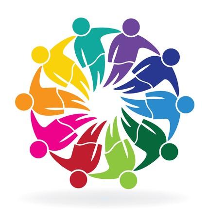 Teamwork Treffen Geschäftsleute Logo Vektor Standard-Bild - 72020033