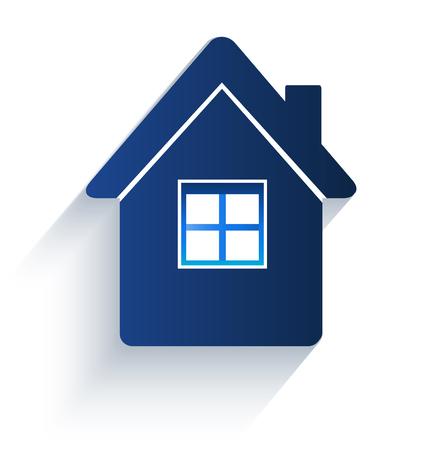 real estate house: House flat icon logo vector