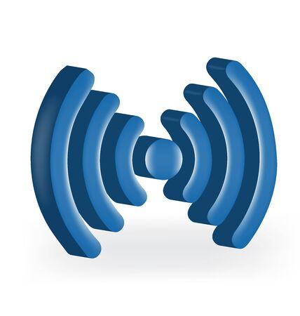 Network signal logo vectordesign Illustration