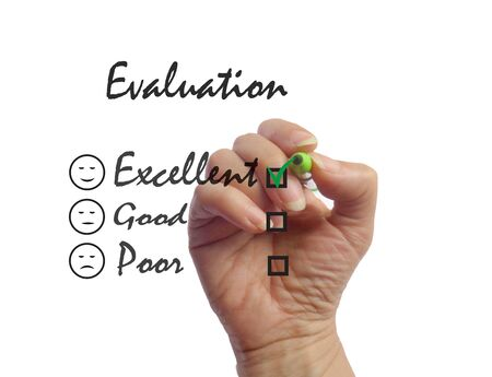 reviews: Survey excellent customer evaluation.  Feedback sign picture illustration
