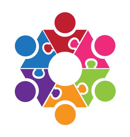 People teamwork sharing logo
