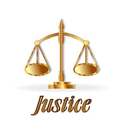 Justice symbol scale gold design Illustration