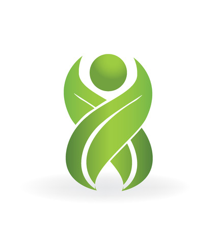 green environment: Healthy life logo health spa  vector symbol