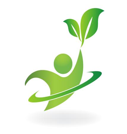 health spa: Healthy life logo health spa  vector symbol
