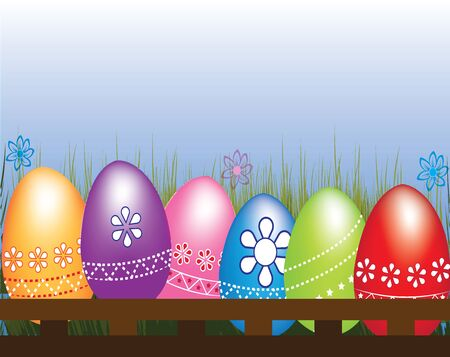 Easter Eggs vector background Illustration