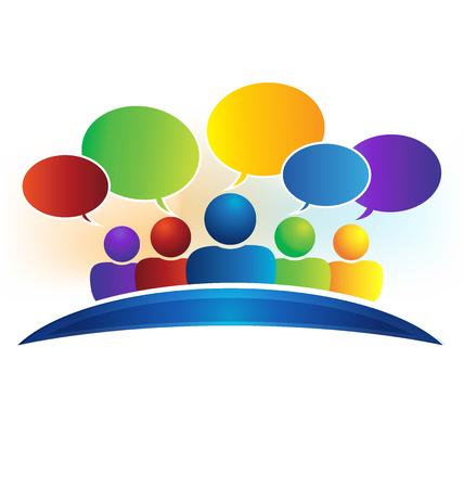 Business social media network speech bubbles logo (talking)
