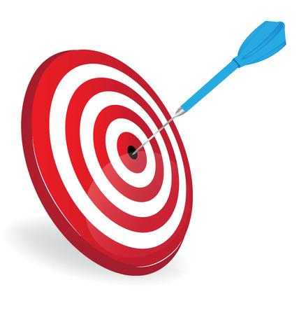 Target dart logo vector image Illustration