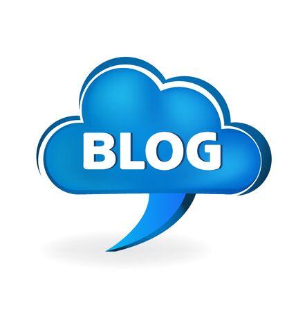 Blog cloud speech symbol vector logo image Illustration