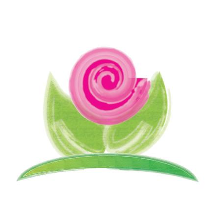 romance: Pink flower logo business card