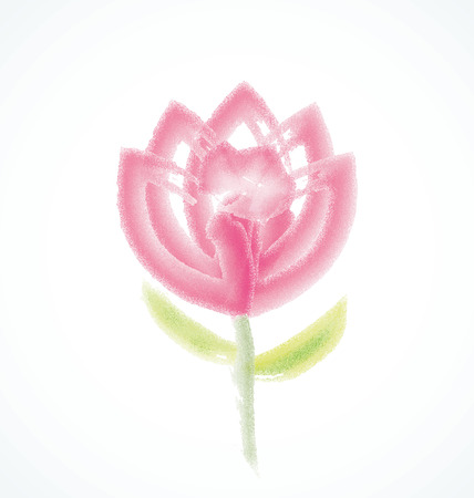 Flower watercolor vector logo