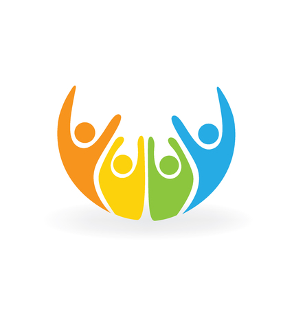Happy people logo vector