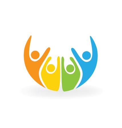 Gelukkige mensen logo vector